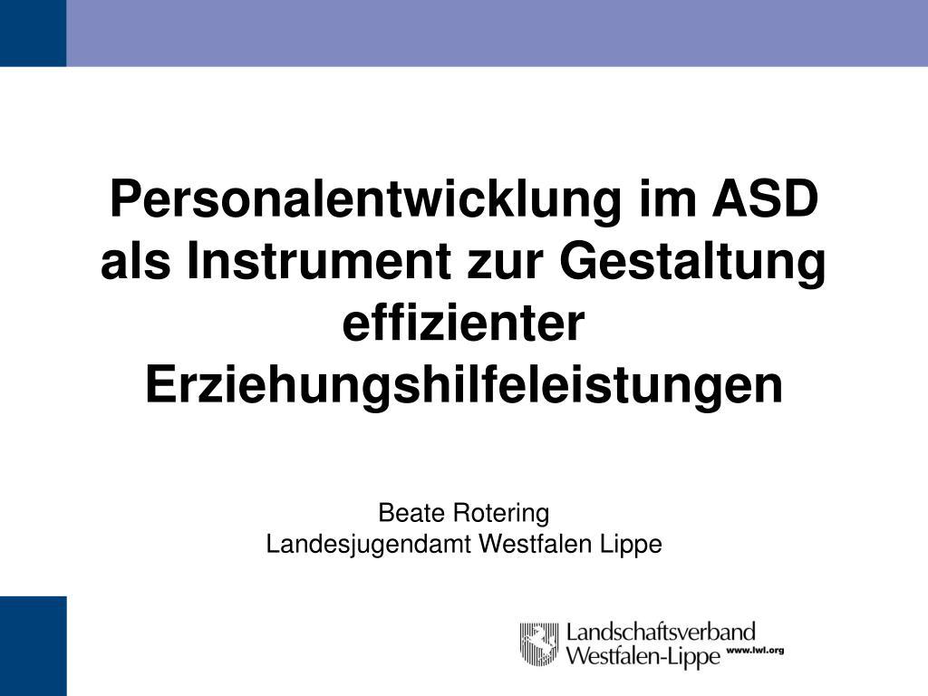 personalentwicklung im asd als instrument zur gestaltung effizienter erziehungshilfeleistungen l.