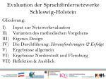 evaluation der sprachf rdernetzwerke schleswig holstein