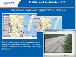 traffic and incidents 511