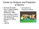 center for analysis and prediction of storms