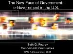 the new face of government e government in the u s