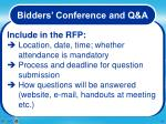 bidders conference17