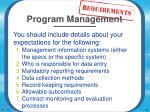 management requirements14