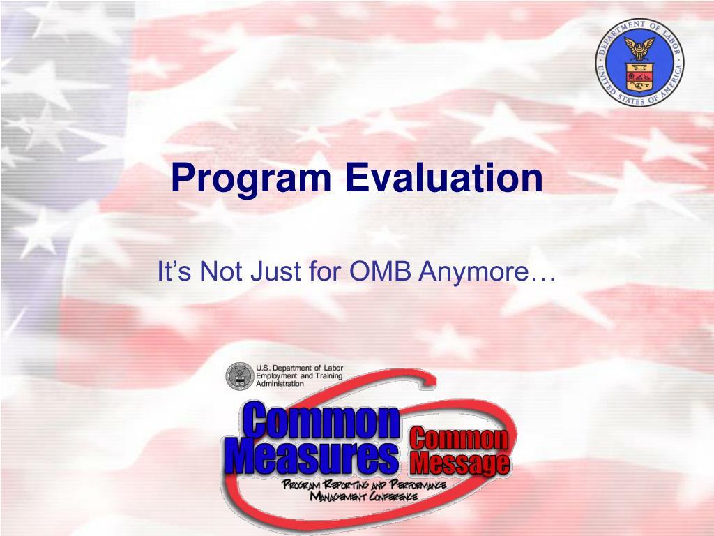 program evaluation l.
