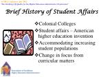 brief history of student affairs