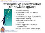 principles of good practice for student affairs