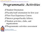 programmatic activities