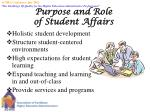 purpose and role of student affairs