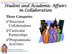 student and academic affairs in collaboration