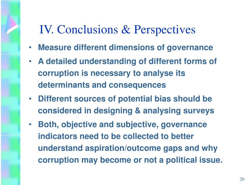 IV. Conclusions & Perspectives