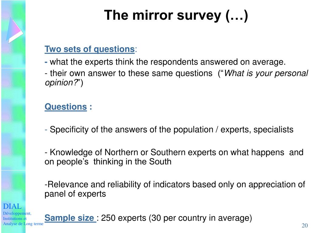 The mirror survey (…)