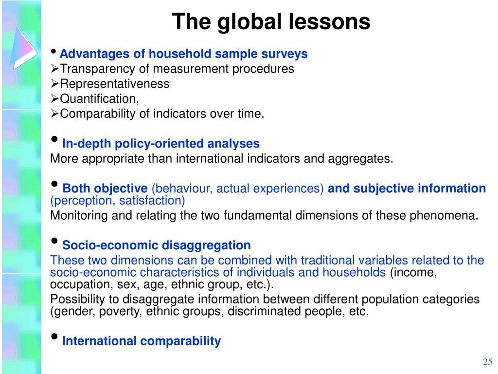 The global lessons