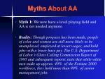 myths about aa