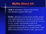 myths about aa22