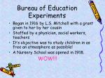bureau of education experiments