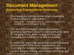 document management supporting organizational processes