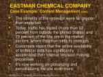 eastman chemical company case example content management cont