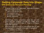 getting corporate data into shape erp enterprise resource planning