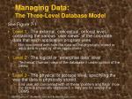 managing data the three level database model