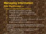 managing information data warehouses cont36
