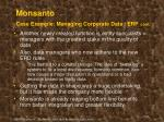 monsanto case example managing corporate data erp cont26