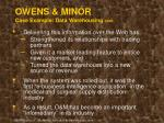 owens minor case example data warehousing cont39