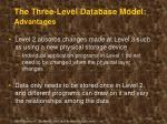 the three level database model advantages