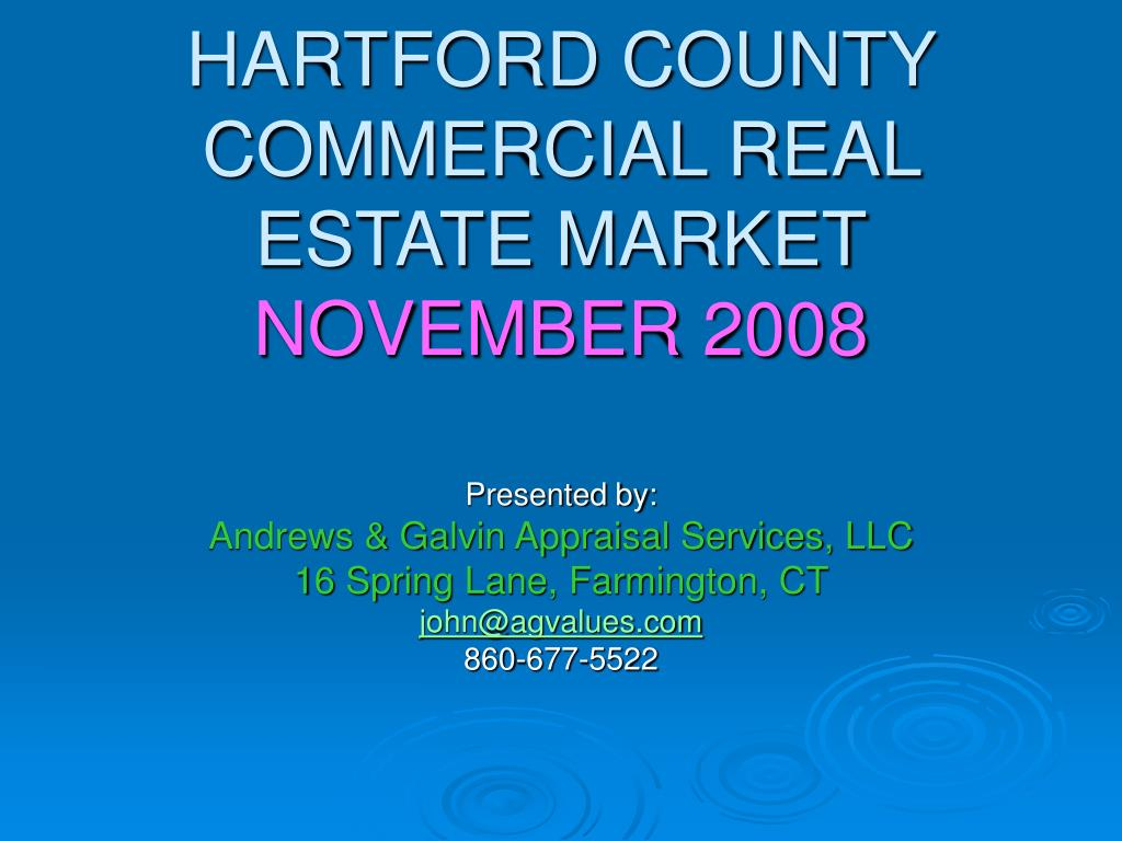 hartford county commercial real estate market november 2008 l.