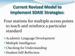 current revised model to implement sdaie strategies