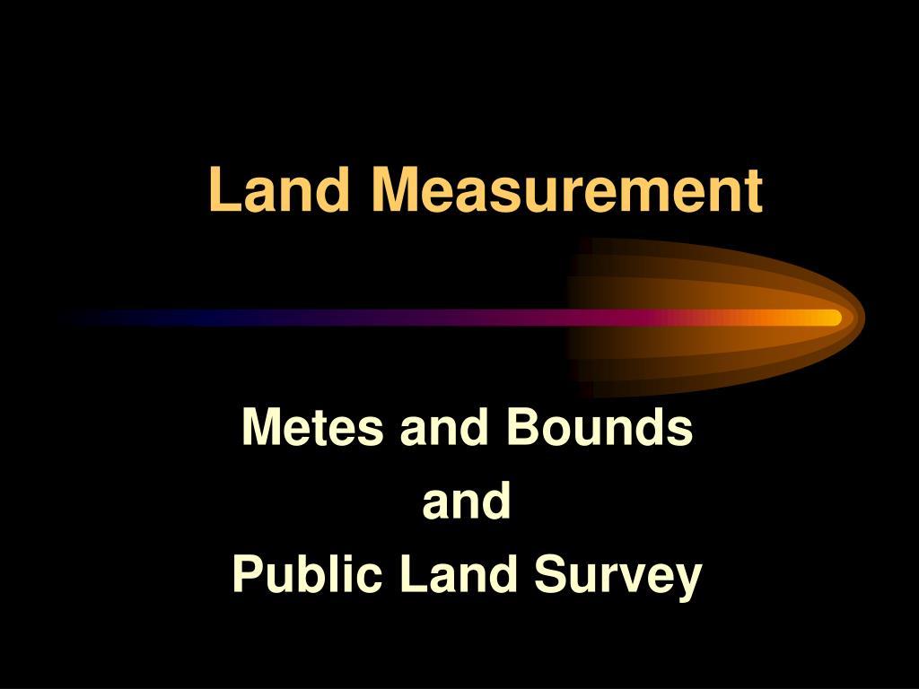 land measurement l.