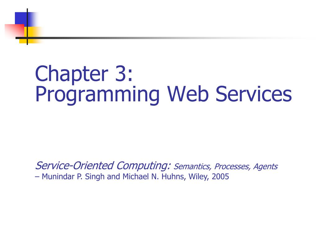 chapter 3 programming web services l.