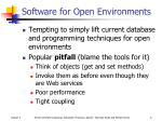 software for open environments