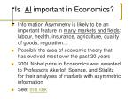 is ai important in economics