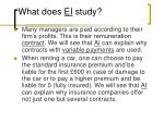 what does ei study10