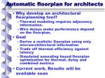 automatic floorplan for architects