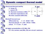 dynamic compact thermal model