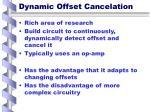 dynamic offset cancelation
