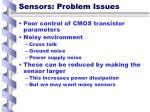 sensors problem issues