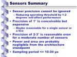 sensors summary