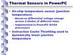 thermal sensors in powerpc