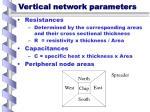 vertical network parameters