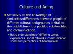 culture and aging