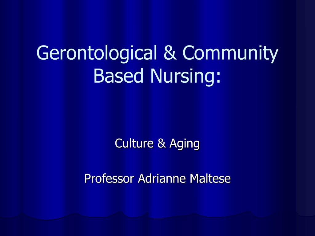 gerontological community based nursing l.