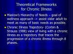 theoretical frameworks for chronic illness
