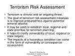 terrorism risk assessment