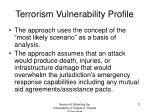 terrorism vulnerability profile