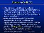 abstract of talk 1