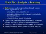 fault tree analysis summary