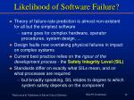 likelihood of software failure