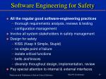 software engineering for safety